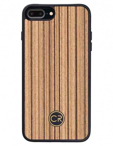 Etui premium fornir, case na smartfon APPLE iPhone SE (2020). Fornir icewood ze srebrną blaszką.