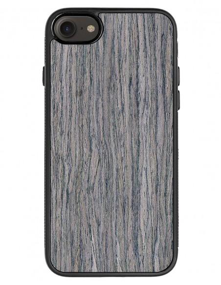 Etui premium fornir, case na smartfon APPLE iPhone SE (2020). Fornir zebrano ze srebrną blaszką.