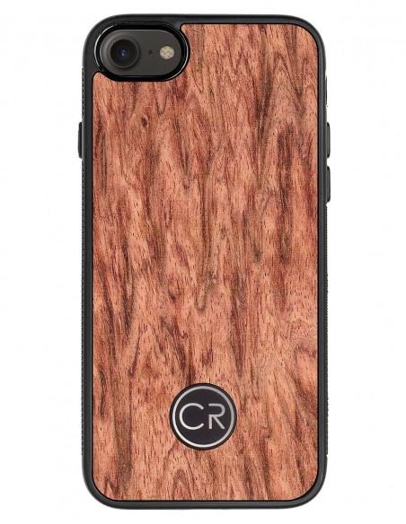 Etui premium skórzane, case na smartfon APPLE iPhone SE (2020). Skóra pyton czarna ze srebrną blaszką.