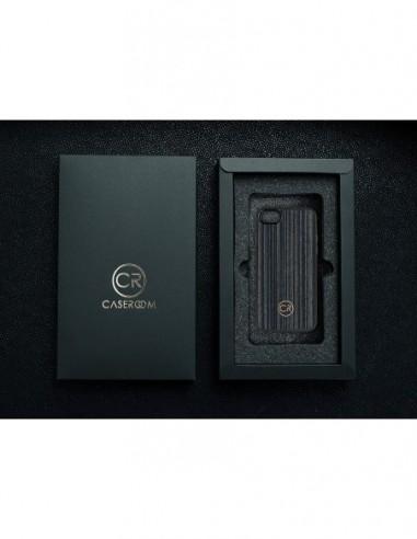 Etui premium skórzane, case na smartfon APPLE iPhone SE (2020). Skóra floater czerwona ze srebrną blaszką.