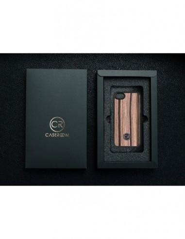 Etui premium skórzane, case na smartfon APPLE iPhone SE (2020). Skóra floater ruda ze srebrną blaszką.