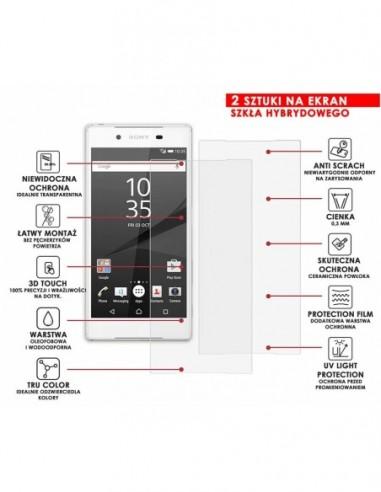 Etui premium skórzane, case na smartfon APPLE iPhone 8. Skóra floater czarna ze srebrną blaszką.