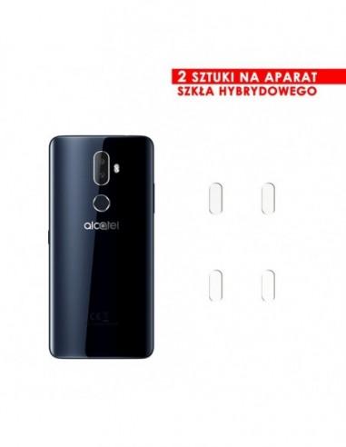 Etui premium skórzane, case na smartfon HUAWEI MATE 20 LITE. Skóra floater czarna ze srebrną blaszką.