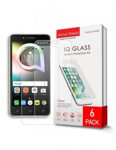 Etui premium skórzane, case na smartfon HUAWEI P20 LITE. Skóra floater czarna ze srebrną blaszką.