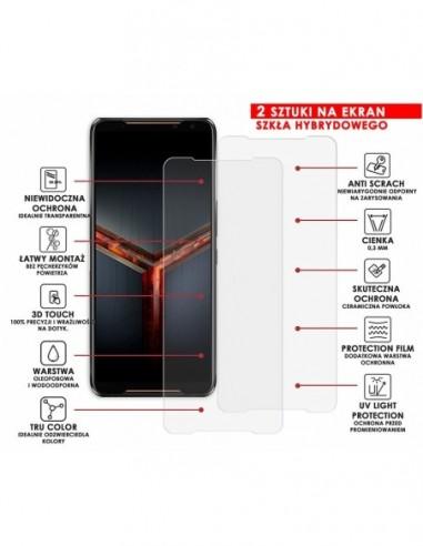 Etui premium skórzane, case na smartfon HUAWEI Y9 PRIME 2019. Skóra floater czarna ze srebrną blaszką.