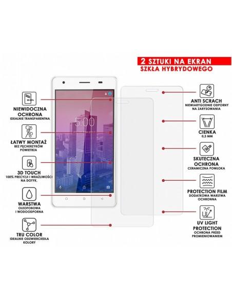 Etui premium skórzane, case na smartfon APPLE iPhone 8. Skóra floater czerwona ze srebrną blaszką.