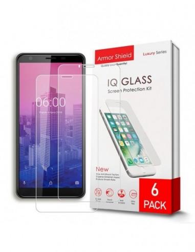 Etui premium skórzane, case na smartfon APPLE iPhone 11. Skóra floater czerwona ze srebrną blaszką.