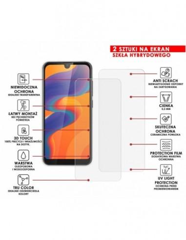 Etui premium skórzane, case na smartfon HUAWEI P8 LITE 2017. Skóra floater czerwona ze srebrną blaszką.