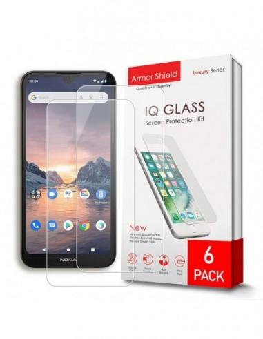 Etui premium skórzane, case na smartfon HUAWEI P9 LITE 2017. Skóra floater czerwona ze srebrną blaszką.