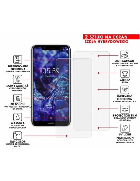Etui premium skórzane, case na smartfon HUAWEI P20. Skóra floater czerwona ze srebrną blaszką.