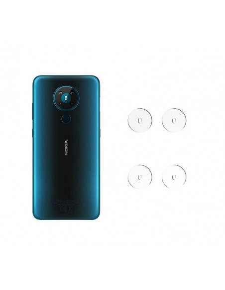 Etui premium skórzane, case na smartfon HUAWEI P20 LITE. Skóra floater czerwona ze srebrną blaszką.