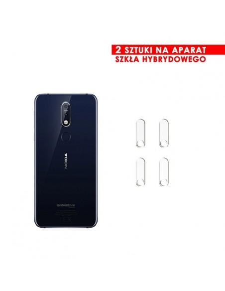 Etui premium skórzane, case na smartfon HUAWEI P SMART Z. Skóra floater czerwona ze srebrną blaszką.