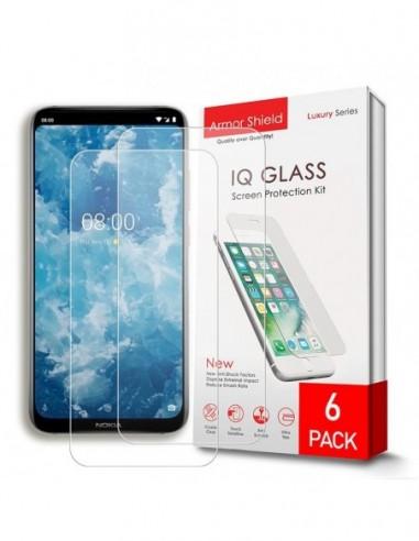 Etui premium skórzane, case na smartfon HUAWEI Y9 PRIME 2019. Skóra floater czerwona ze srebrną blaszką.