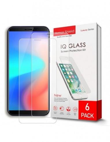 Etui premium skórzane, case na smartfon APPLE iPhone 6 PLUS. Skóra krokodyl czarna ze srebrną blaszką.