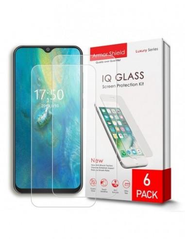 Etui premium skórzane, case na smartfon SAMSUNG GALAXY A6. Skóra floater czerwona ze srebrną blaszką.