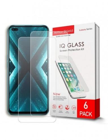 Etui premium skórzane, case na smartfon SAMSUNG GALAXY A50. Skóra floater czerwona ze srebrną blaszką.