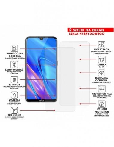 Etui premium skórzane, case na smartfon APPLE iPhone X. Skóra pikowana czarna ze srebrną blaszką.