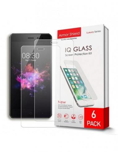 Etui premium skórzane, case na smartfon HUAWEI P9 LITE 2017. Skóra pikowana czarna ze srebrną blaszką.
