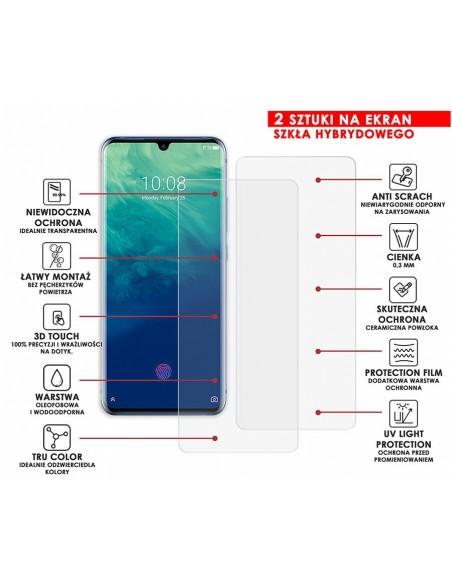 Etui premium skórzane, case na smartfon HUAWEI P9 LITE 2017. Skóra krokodyl czarna ze srebrną blaszką.