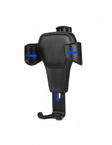 Etui premium skórzane, case na smartfon SAMSUNG GALAXY J5 2017. Skóra krokodyl czarna ze srebrną blaszką.
