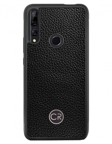 Etui premium skórzane, case na smartfon APPLE iPhone XS MAX. Skóra iguana czarna ze srebrną blaszką.