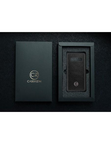 Etui premium skórzane, case na smartfon APPLE iPhone 6. Skóra floater ruda ze srebrną blaszką.
