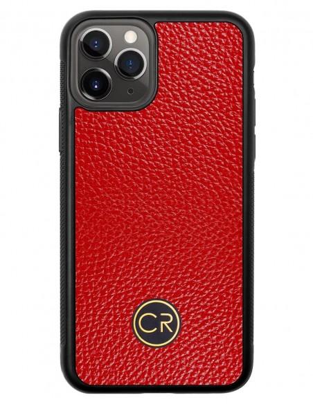 Etui premium fornir, case na smartfon Apple iPhone 11 Pro. Fornir bambus ze srebrną blaszką.