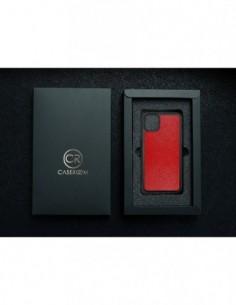Etui premium fornir, case na smartfon Apple iPhone X. Fornir bambus ze srebrną blaszką.