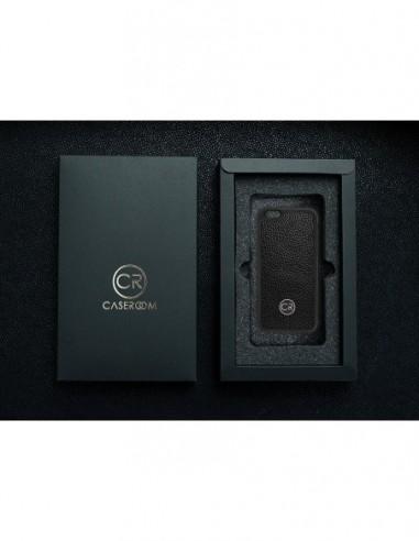 Etui premium skórzane, case na smartfon HUAWEI MATE 10 LITE. Skóra floater ruda ze srebrną blaszką.