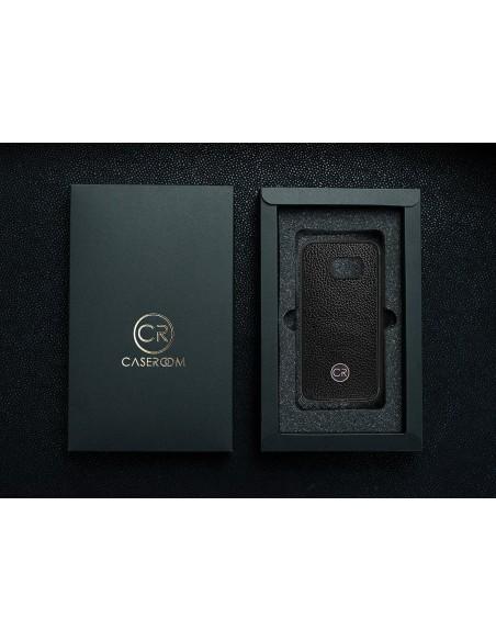 Etui premium fornir, case na smartfon APPLE iPhone X. Fornir cordoba ze srebrną blaszką.