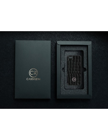 Etui premium fornir, case na smartfon HUAWEI P Smart Z. Fornir dąb szary ze srebrną blaszką.