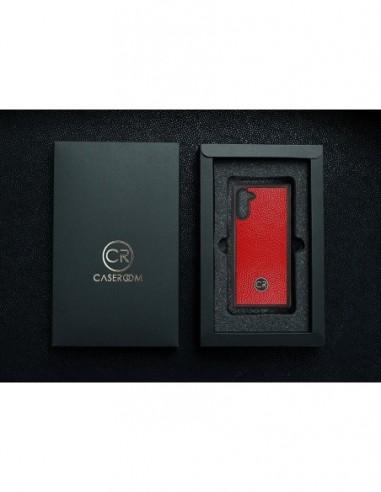 Etui premium fornir, case na smartfon APPLE iPhone 8. Fornir heban brązowy ze srebrną blaszką.