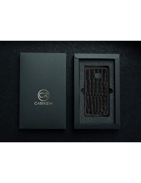 Etui premium fornir, case na smartfon HUAWEI Mate P20. Fornir icewood ze srebrną blaszką.