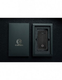 Etui premium fornir, case na smartfon Samsung Galaxy S10. Fornir merbau ze srebrną blaszką.