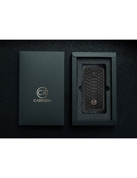 Etui premium fornir, case na smartfon APPLE iPhone 6S. Fornir oliwka argentina ze srebrną blaszką.
