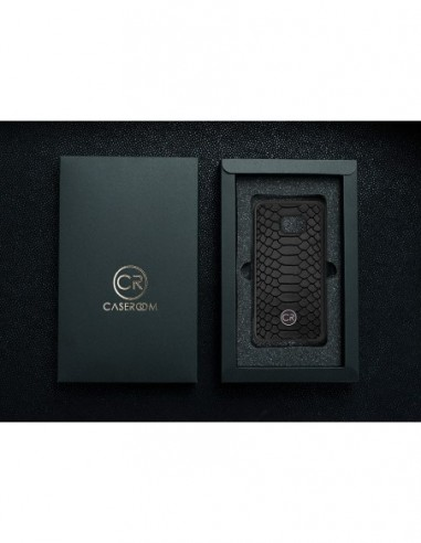 Etui premium fornir, case na smartfon APPLE iPhone 11 Pro Max. Fornir oliwka argentina ze srebrną blaszką.