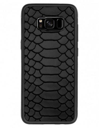 Etui premium fornir, case na smartfon HUAWEI Mate 20 Lite. Fornir oliwka argentina ze srebrną blaszką.