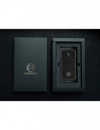 Etui premium fornir, case na smartfon APPLE iPhone 7 Plus. Fornir oliwka prima ze srebrną blaszką.