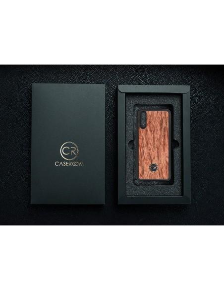Etui premium fornir, case na smartfon APPLE iPhone 6S Plus. Fornir teak ze srebrną blaszką.