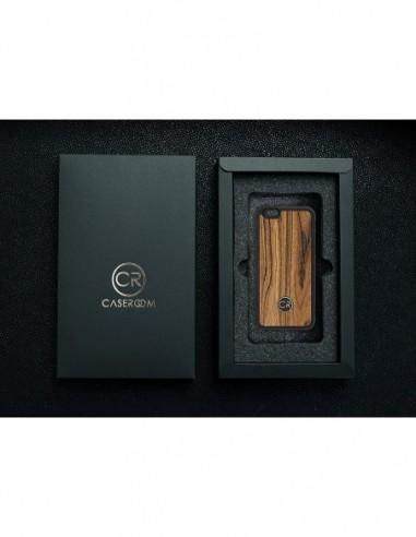 Etui premium fornir, case na smartfon APPLE iPhone 6 Plus. Fornir zebrano ze srebrną blaszką.