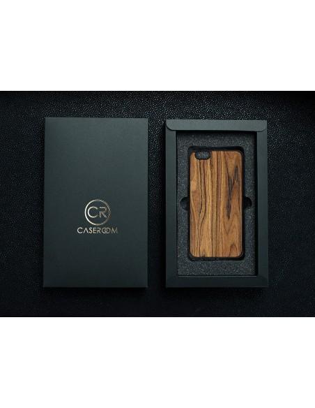 Etui premium fornir, case na smartfon APPLE iPhone 11 Pro. Fornir zebrano ze srebrną blaszką.