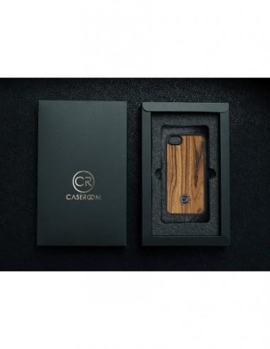 Etui premium fornir, case na smartfon APPLE iPhone 11 Pro Max. Fornir zebrano ze srebrną blaszką.