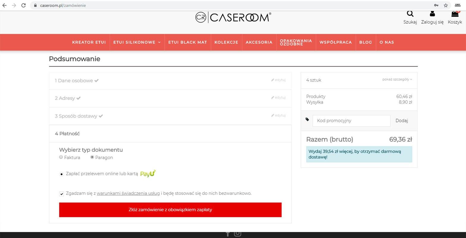 Caseroom.pl - instrukcja obsługi kreatora etui