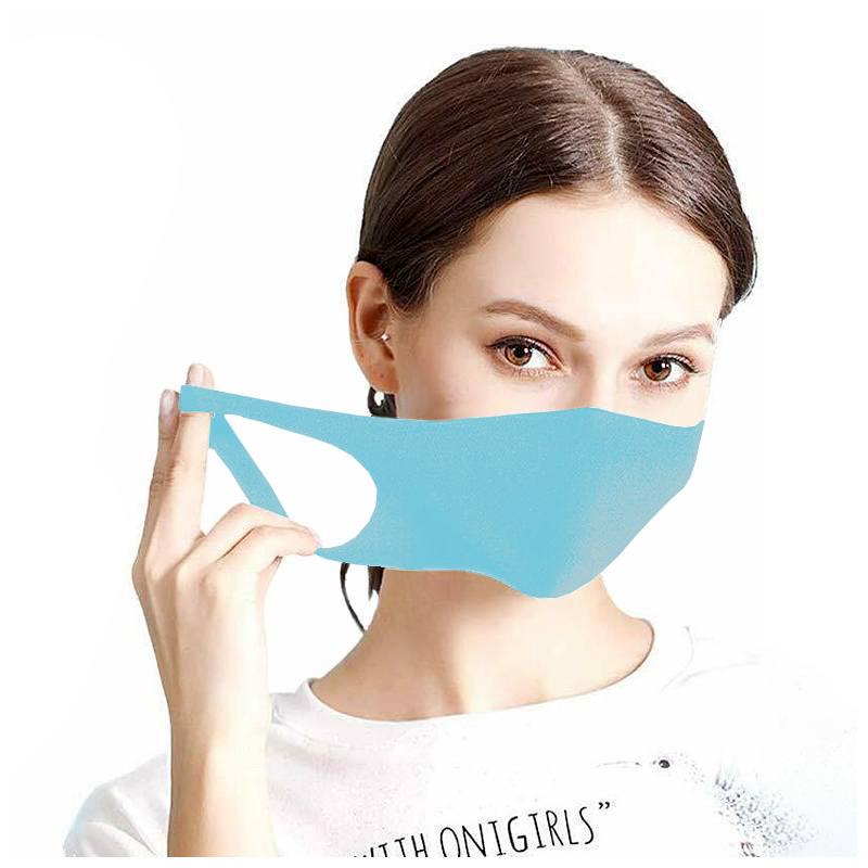 Maseczka ochronna na twarz street wear błękitna