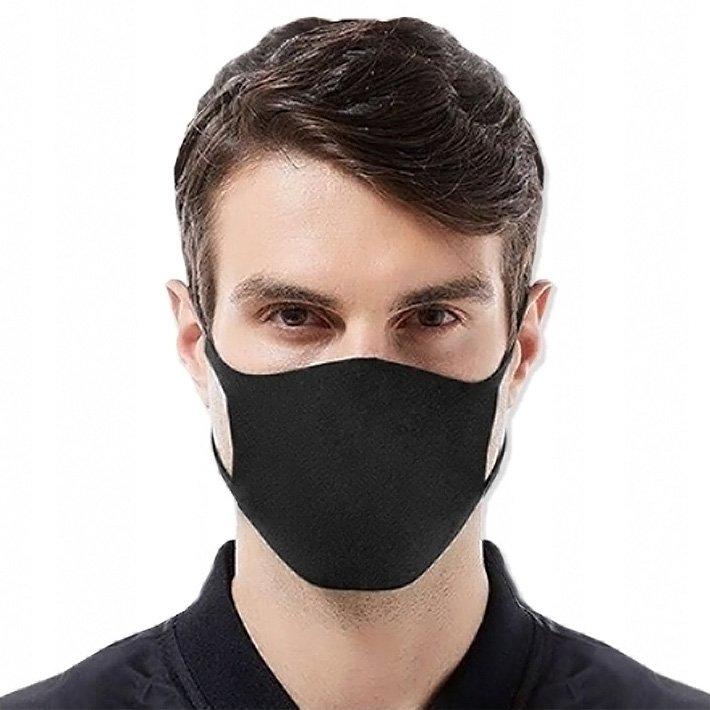 Maseczka ochronna na twarz street wear czarna