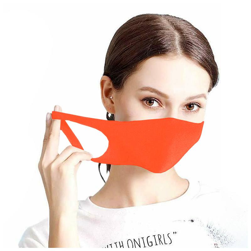 Maseczka ochronna na twarz street wear neonowy pomarańcz