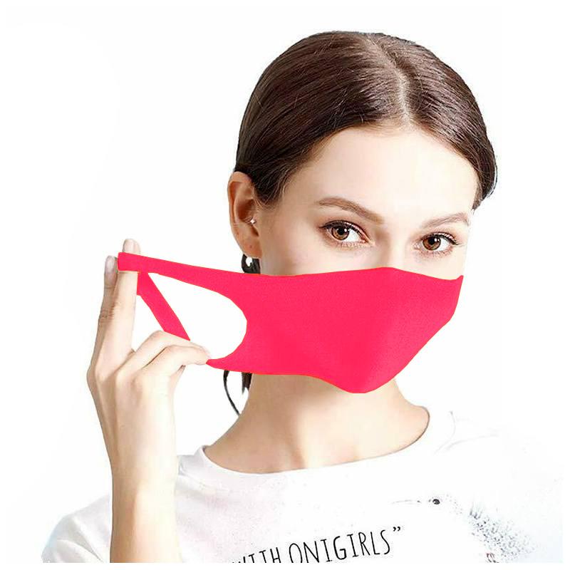 Maseczka ochronna na twarz street wear neonowy róż