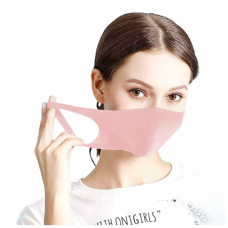 Maseczka ochronna na twarz street wear pudrowy róż